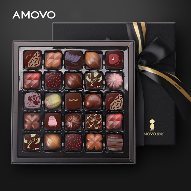 AMOVO high end celebrations handmade candy and chocolate with rich flavors