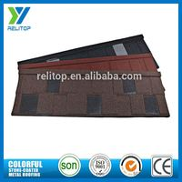 Insulated oriental stone chip coated steel roof tiles