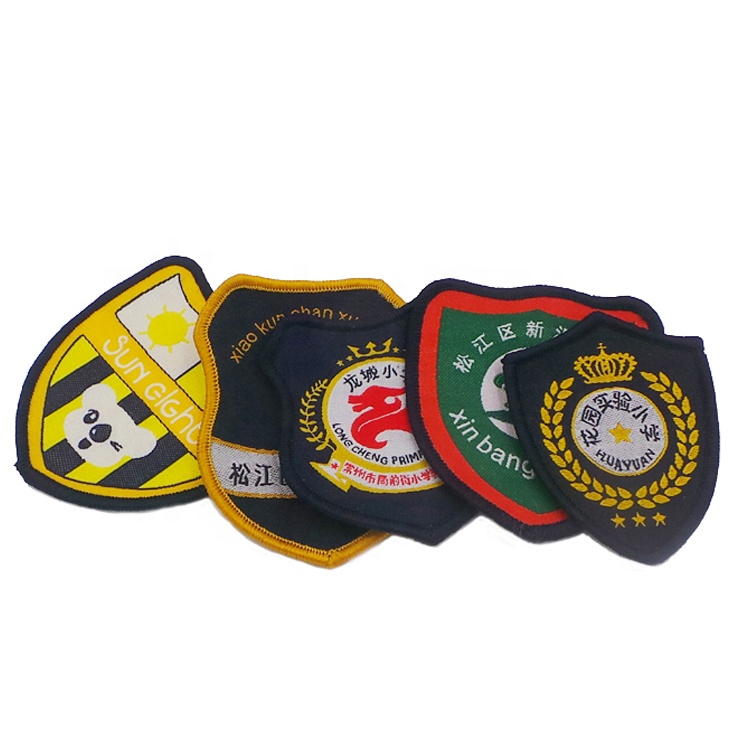 Nigeria customized Factory cheap price garment uniform clothing patches emblem school woven badge, Custom color