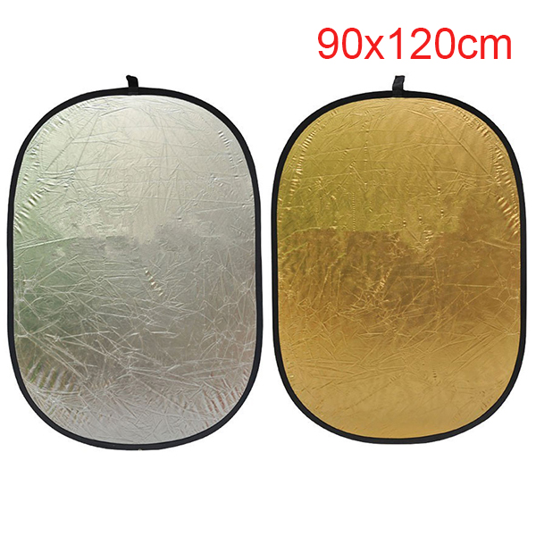 "2 in 1 90*120cm/35"" x 47"" Photography Gold Silver Light Mulit Collapsible Portable Photo Reflector for photo Studio"