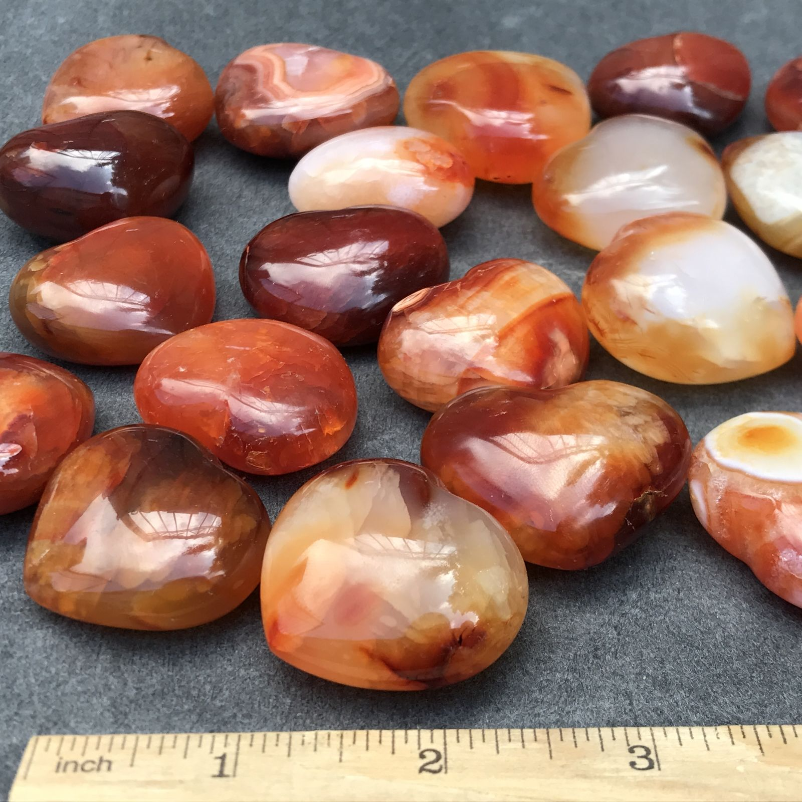 Natural Carnelian Agate Crystal Stone Hearts Takeaway Gemstone Gifts