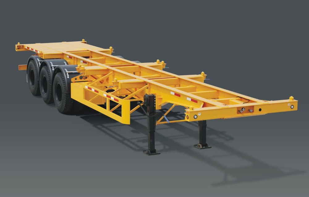 Chassis Anhänger Rahmen Container Skeleton Auflieger - Buy Skeleton ...