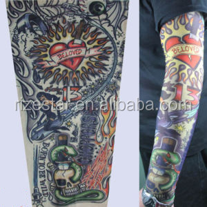 invisible mesh fabric tattoo sleeve