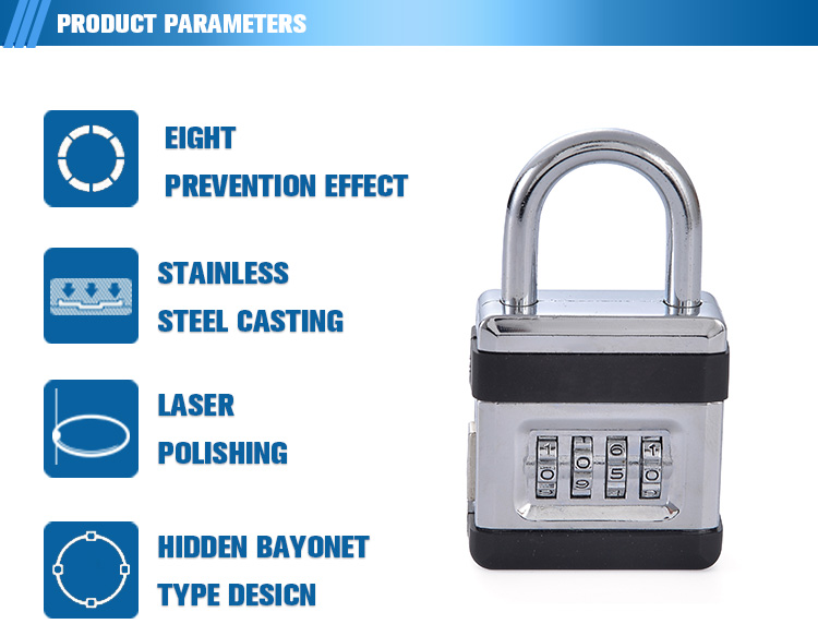 Travel accessories 3 digit combination password luggage code lock suitcase lock for travel