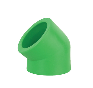 High quality cheap price ppr material 45 degree elbow