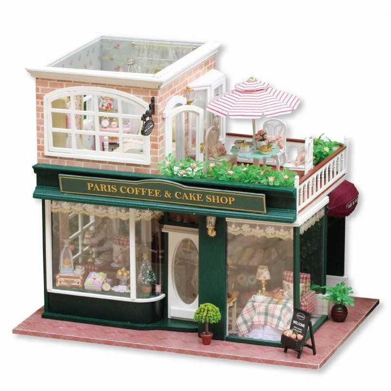 2016 Hot Sale Home Decoration Crafts Wooden Doll Houses