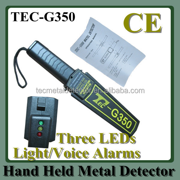 Jewelry Manufactory Security Protection Hand Held Metal Detector TEC-G350