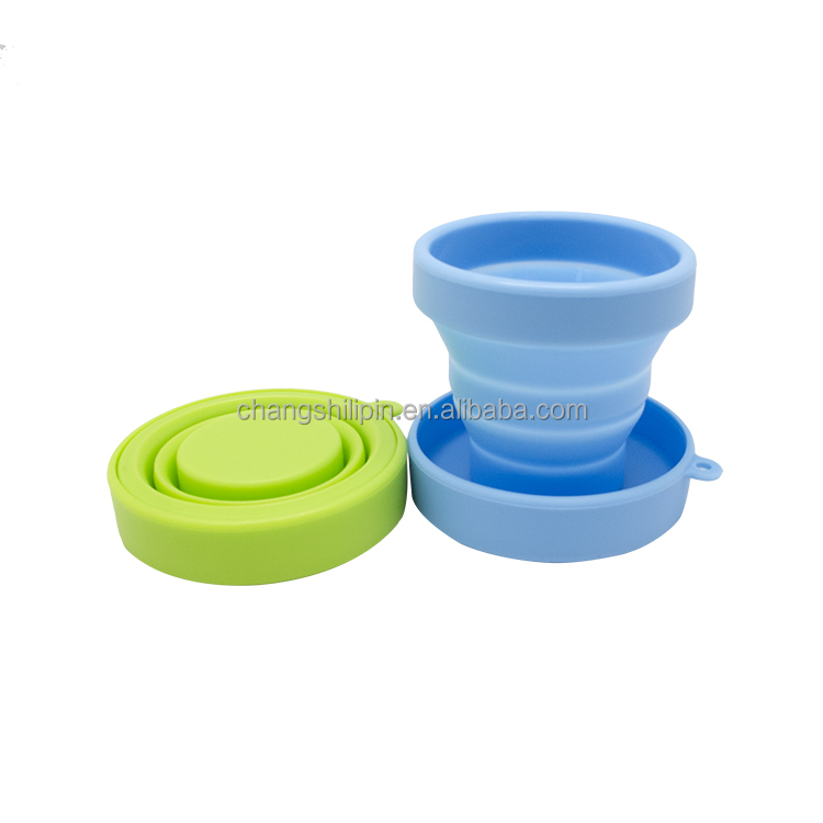 Wholesale food grade silicone folding <strong>cup</strong>,telescopic folding <strong>cup</strong>
