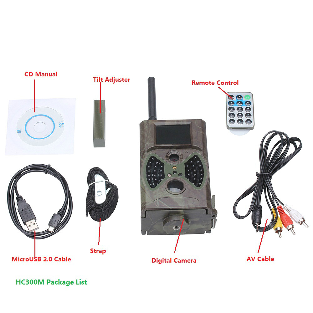 hc300m hd antenne de chasse cam ras avec gsm gprs et nuit visiondigital chasse trail cam ra. Black Bedroom Furniture Sets. Home Design Ideas