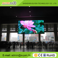 Cheap price P4 indoor fixed large digital advertising led display in public place sign