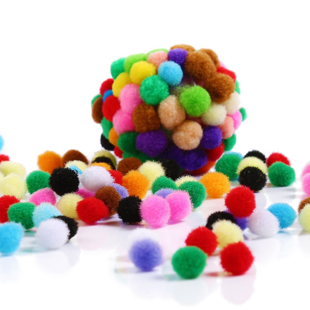 2019 art and craft polyester pom poms for kids decoration