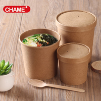 brown paper noodle/soup/salad bowls disposable