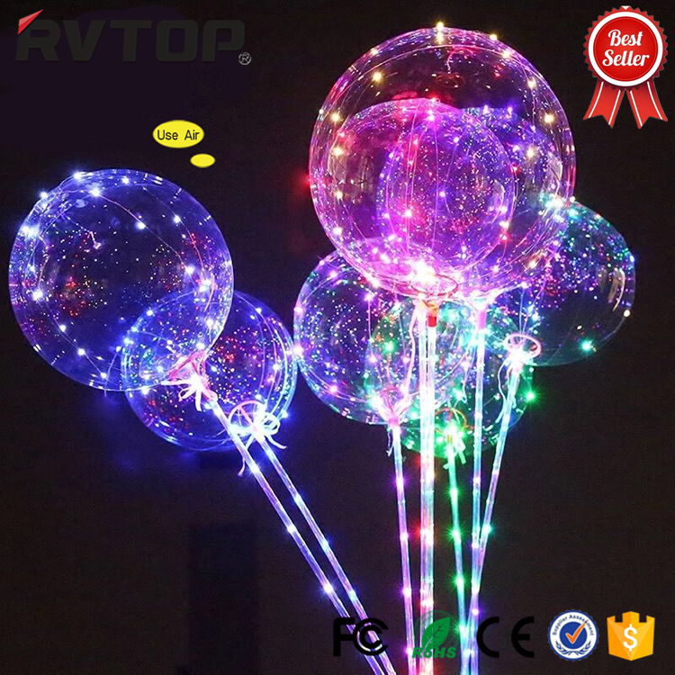 BIGBANG Christmas hot decoration LED light Bobo ballon 18 inches LED balloon light with helium