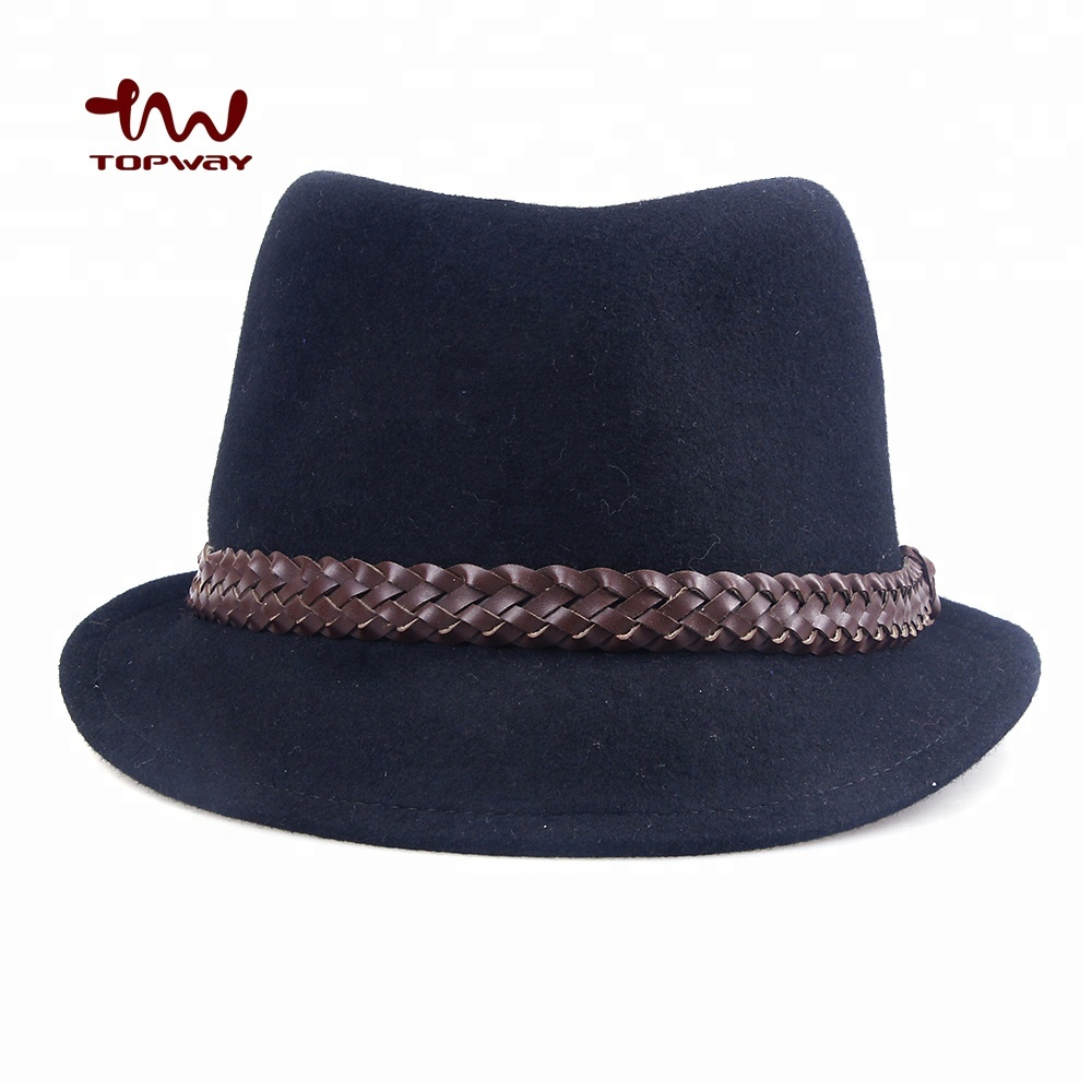c38473cee32022 Roll Up Short Brim Mini Jazz Fedora Hat With Braid - Buy Roll Up ...