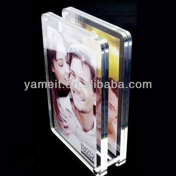 Clear Acrylic Double Sided Glass Picture Frame Buy Double Sided