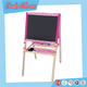Double-sided portable kids painting easel drawing wooden easel