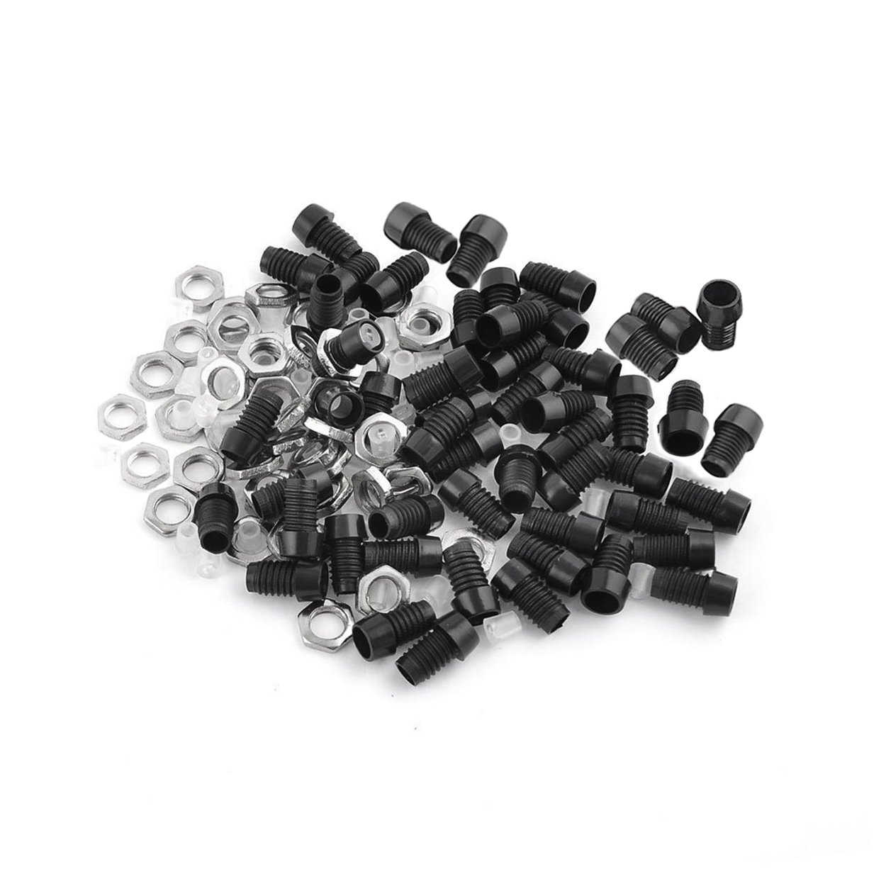 Metal Nut LED Mounting Holder Panel w 3mm 50 Pieces Black