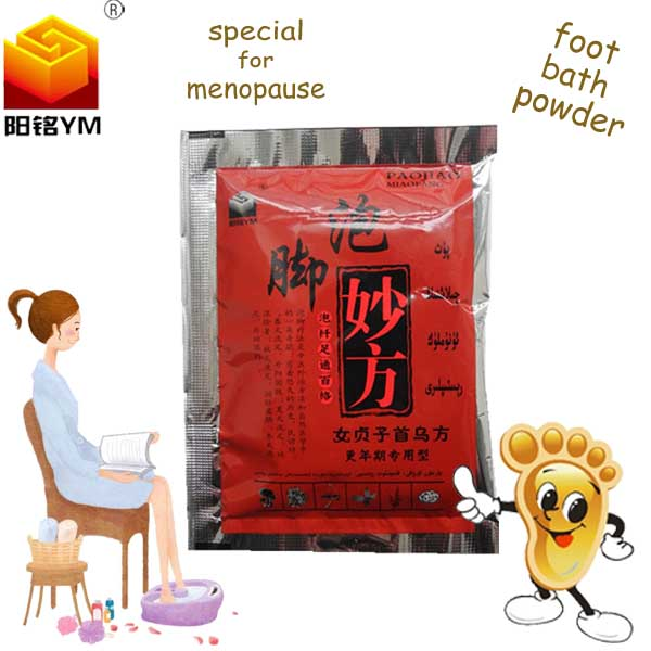 OEM Best selling natural herbs foot bath powder for menopause for elderly care product