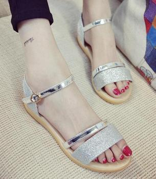 a4ddf4e97813 New Style Ladies Sandals Shoes Girls Flat Summer Shoes - Buy Summer ...