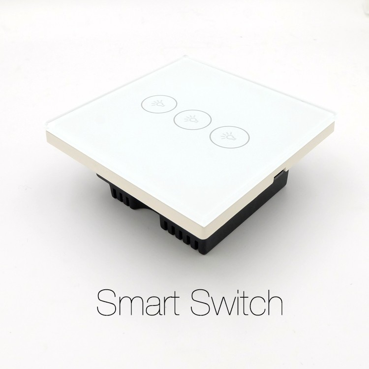 Hot Sale Remote Control Wifi Enabled Switch Crystal Glass Panel For ...