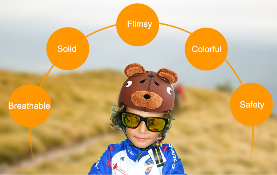 Ultralight Cartoon Cycling Helmet MTB EPS+PC Child Bike Helmet