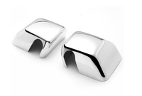 One pair chrome For Jeep Wrangler JK Pair of Exterior Side Door Mirror Covers