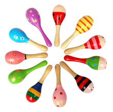 15cm / 20cm / 25cm educational musical maracas wooden baby toy for kids