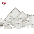 Top choice 61pcs square porcelain dinnerset fine bone china made in china