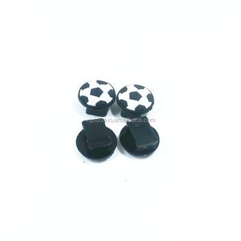 Factory Supply Wholesale Plastic Football Shape Shoe Buckles