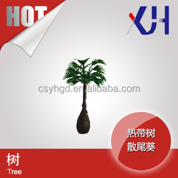 Ho Scale Miniature Architectural Plastic Palm Trees For Tree