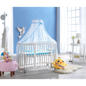 The Multifunction baby crib Convertible adjustable log wood baby bed and baby doll cribs and beds