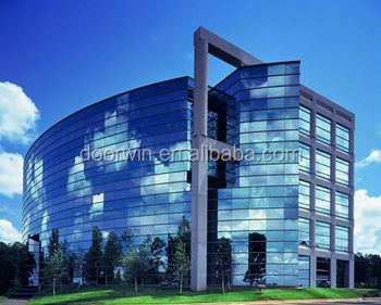 Curtain Wall System With Structural Silicone Glazed Vertical Mullions