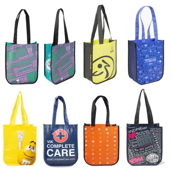 Hot selling custom logo printing laminated lululemon non woven tote bag