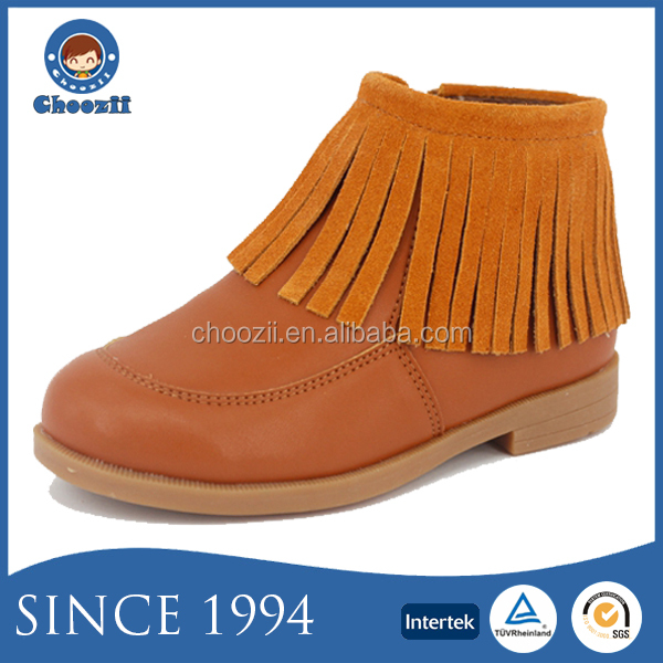 Choozii Classic Fashion Winter Microfiber Leather boot Moccasin Kids Tassel Boots for Girls