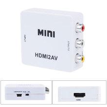 New HDMI to RCA AV/CVBS Composite Analog AV Audio/Video Adapter Converter for PC/PS3/VCR/DVD PAL/NTSC
