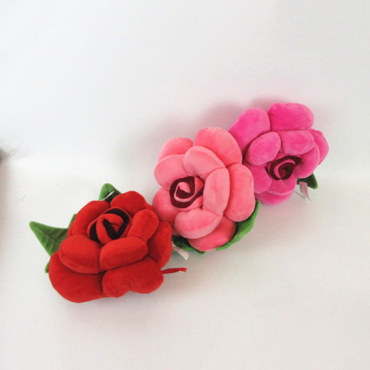 latest Valentine days soft flower toy for girl craze