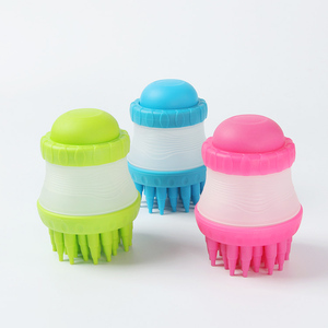 RoblionPet wholesale Silicone hair remover pet massage brush for pet dog shower grooming brush pet wash bath hair brush comb