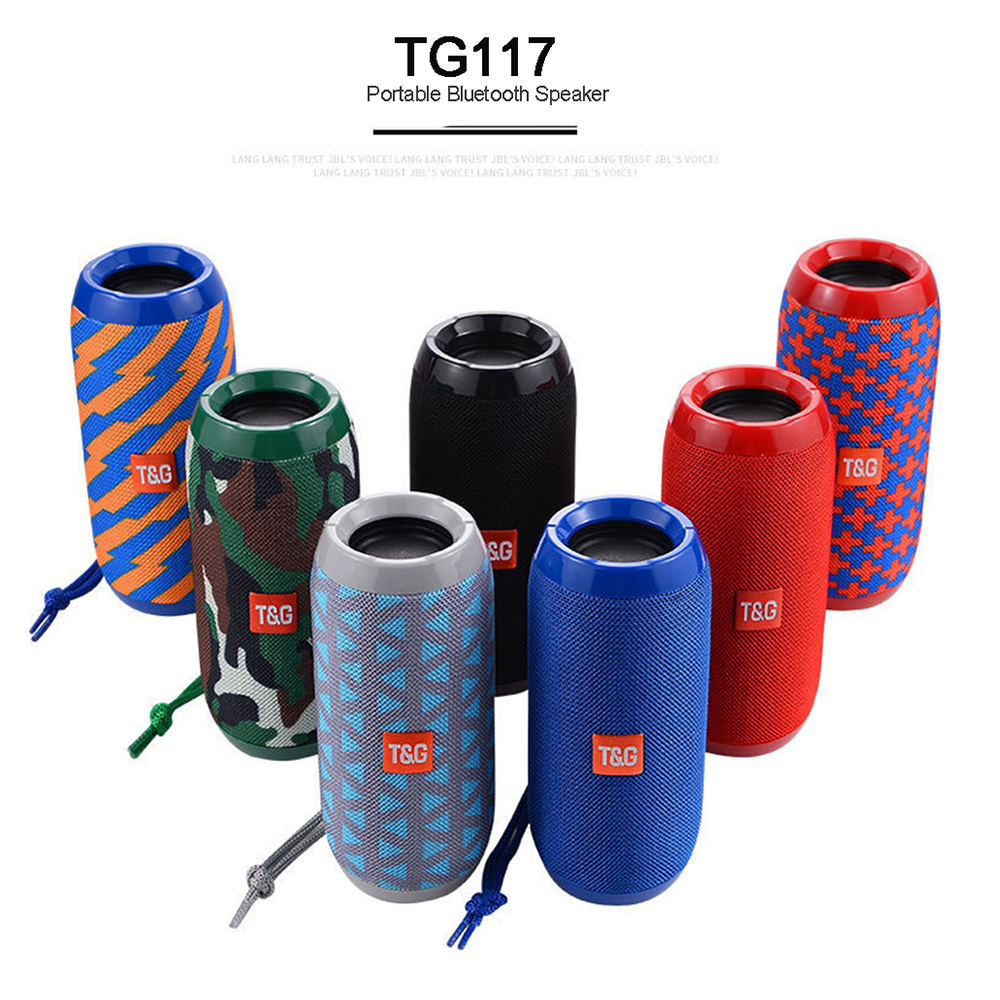 Portable Speaker Nirkabel Bluetooth Speaker TG117 Soundbar Olahraga Outdoor Tahan Air Suara