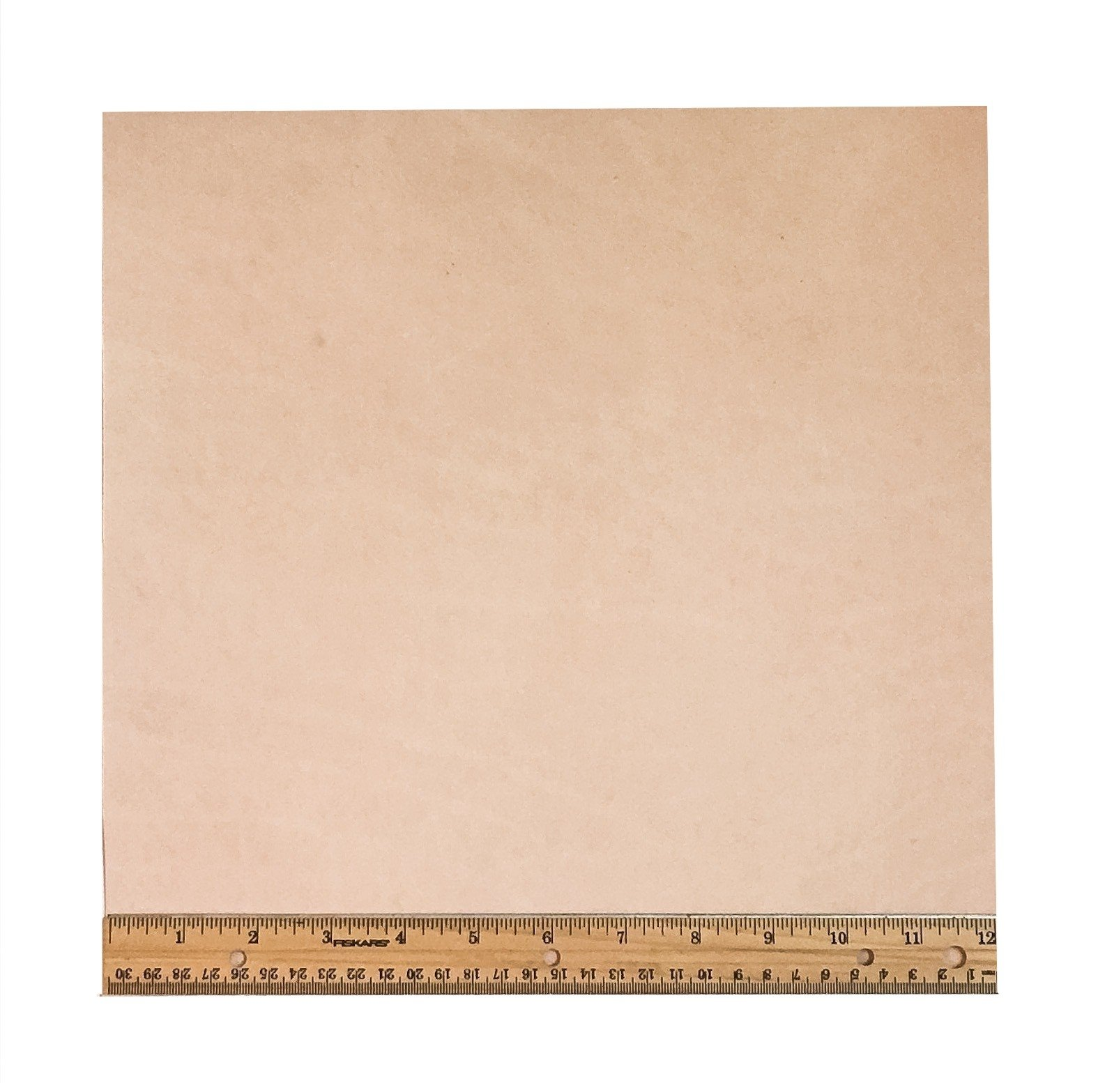 """Tooling Leather Natural Topgrain Veg Tan Light Weight 3-4 oz, 12"""" x 12"""" Piece, 1 Square Foot"""