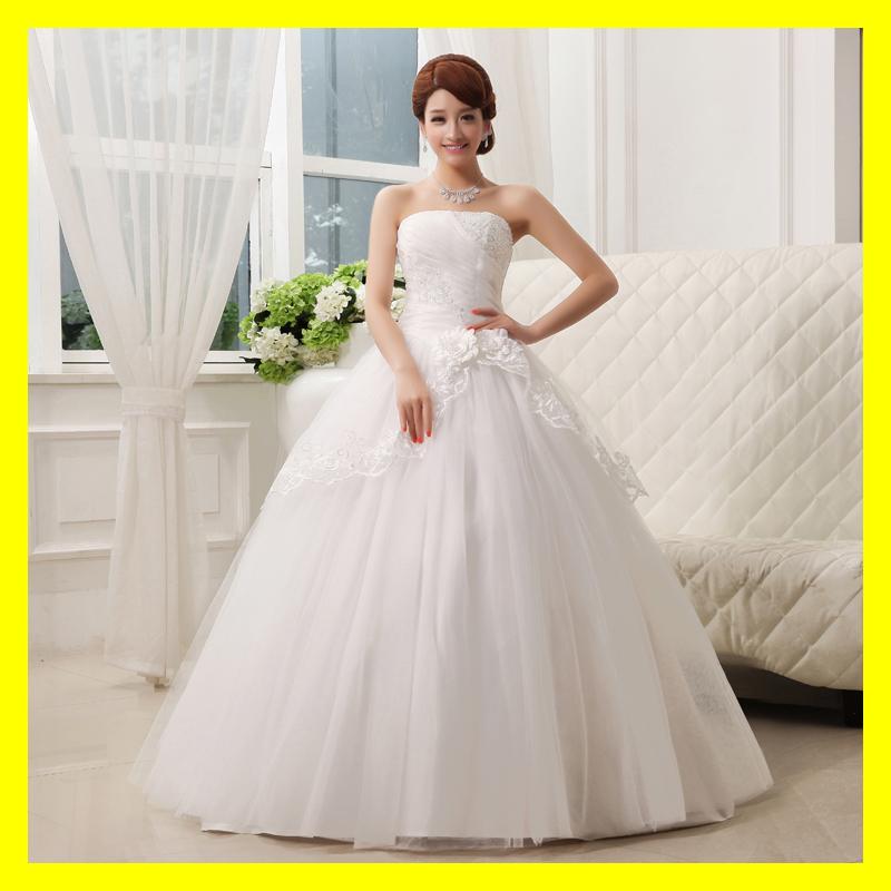 Short Plus Size Wedding Dresses Cute Casual Strapless
