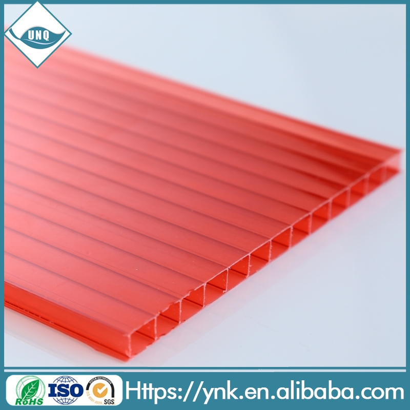 Sample available With UV Protection layer Twin wall Polycarbonate hollow Sheet Sun Sheets for agriculture