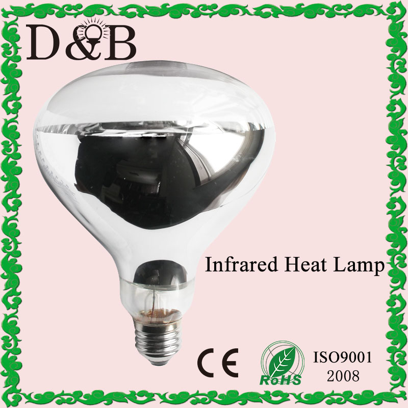 R40 R125 Incandescent reptile / bathroom / body use / food warming -hard glass infrared heat lamp