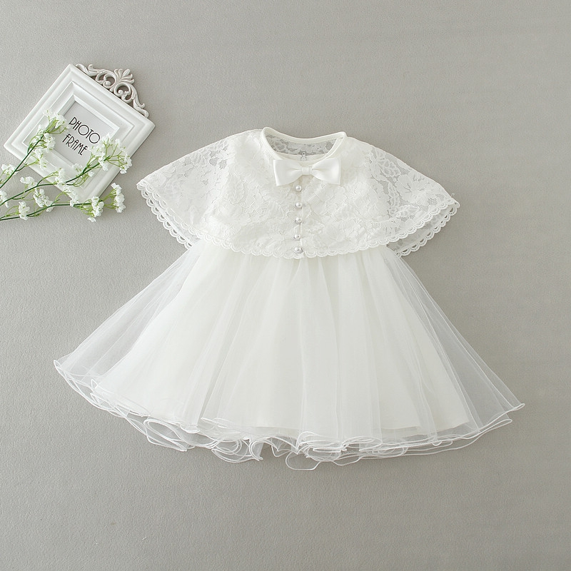 princess baby gown, christening gown, lace baptism dress