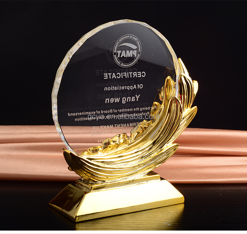 QCY factory direct high quality Any shape customized acrylic creative trophy