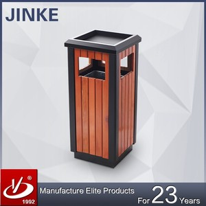 Garden/Street/Outdoor Stainless Steel Recycle Waste Bin Dustbin With Ashtray