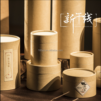 2016 wholesale the most cheapest kraft brown paper round tea hat box