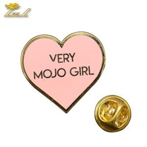 Rainbow / heart shape soft enamel lapel pin custom shape metal lapel pin  badge
