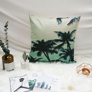 Most popular tree digital printing plush waist jute cushion covers