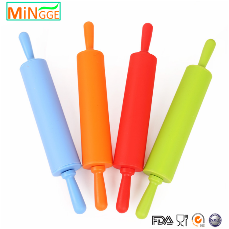 FDA Baking Cake Tools Plastic Handle Non Stick Kitchen Silicone Rolling Pin