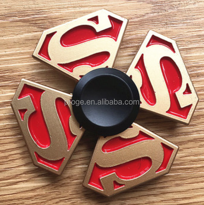 New Shenzhen Factory Price High Quality Metal fidget spinner superman